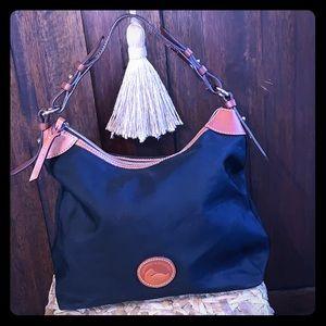 Dooney & Bourke canvas and leather shoulder bag